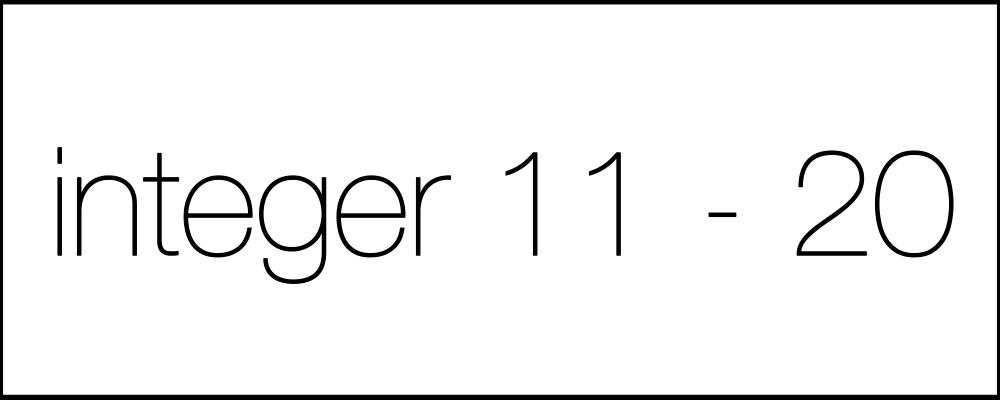 integer11-20