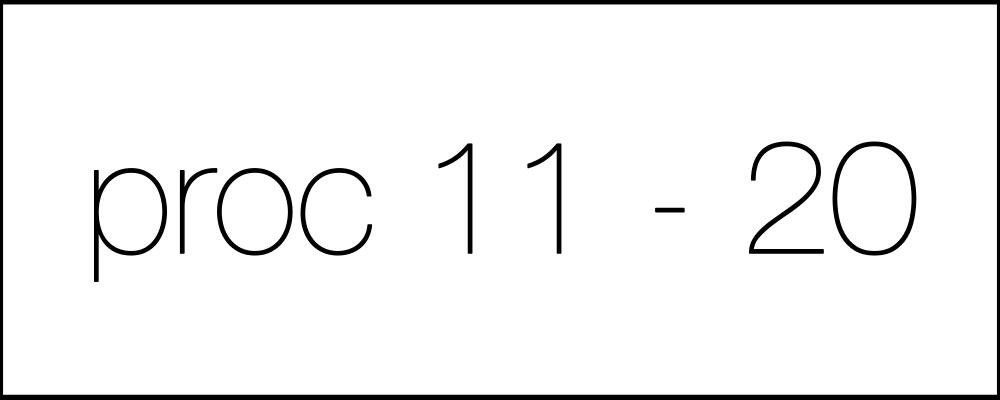 Решение задач. День семнадцатый. Proc11-20.