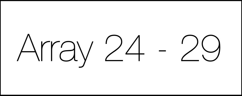 Решение задач. Array24-29