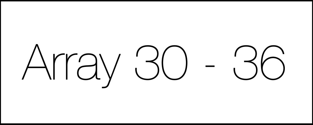 Решение задач. Array30-36