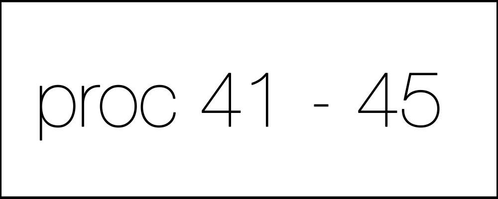 Решение задач. Proc41-45